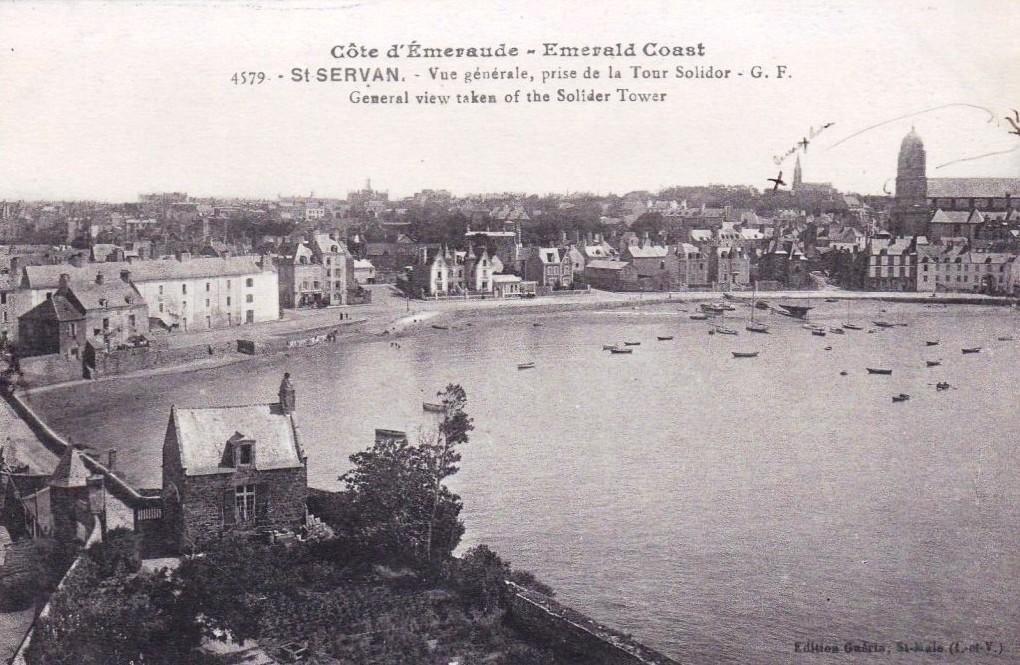Panorama de Saint-Servan pris depuis la Tour Solidor