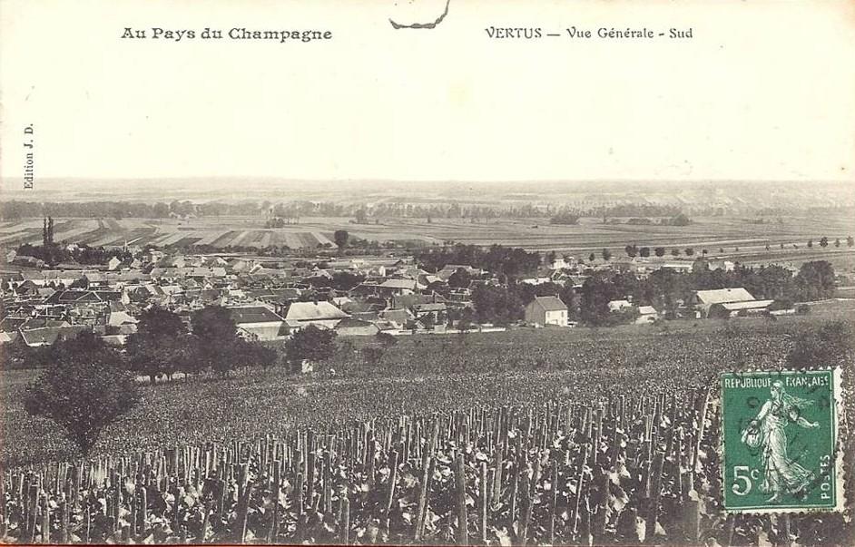 vue générale de Vertus sur une carte postale ancienne